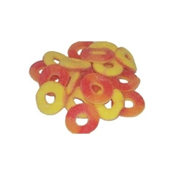 Sanded Gummy Peach Rings - 08117