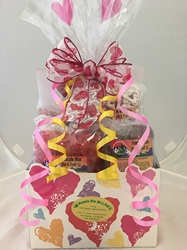 Colorful Hearts Gift Basket